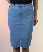 Kaffe Atalin Denim Skirt Midi Length, Denim, original image number 1