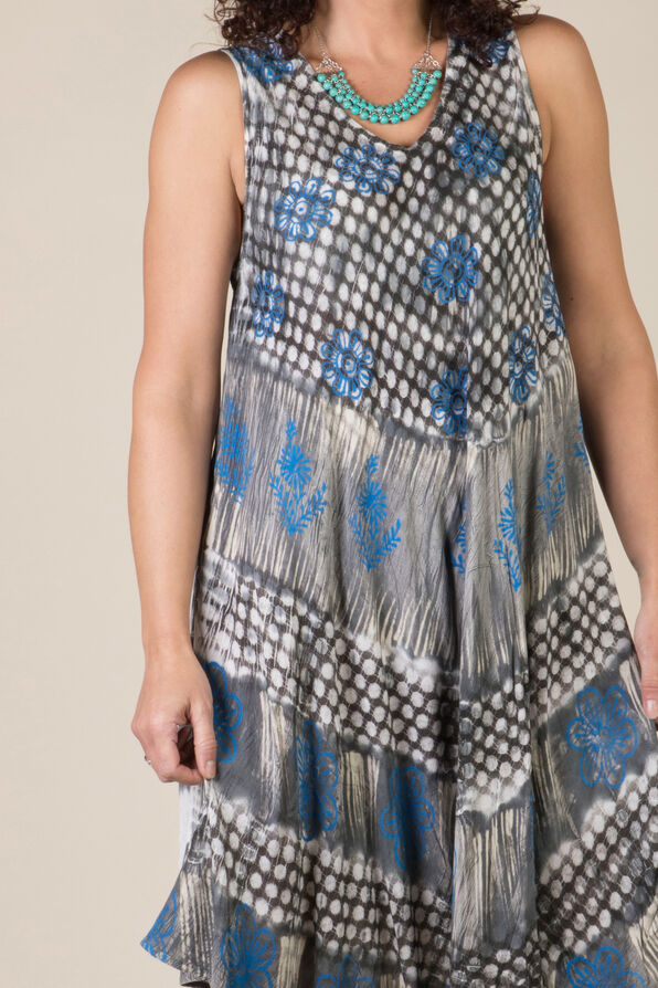 Novah Sleeveless Dress, Grey, original image number 2