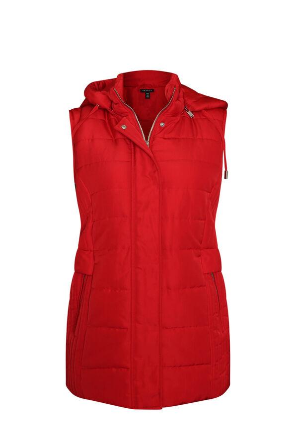 Water Repellent Puffer Vest, , original image number 0