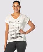 Metallic City T-Shirt, Ivory, original image number 1