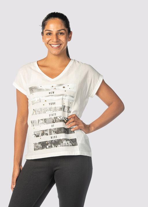 Metallic City T-Shirt, Ivory, original