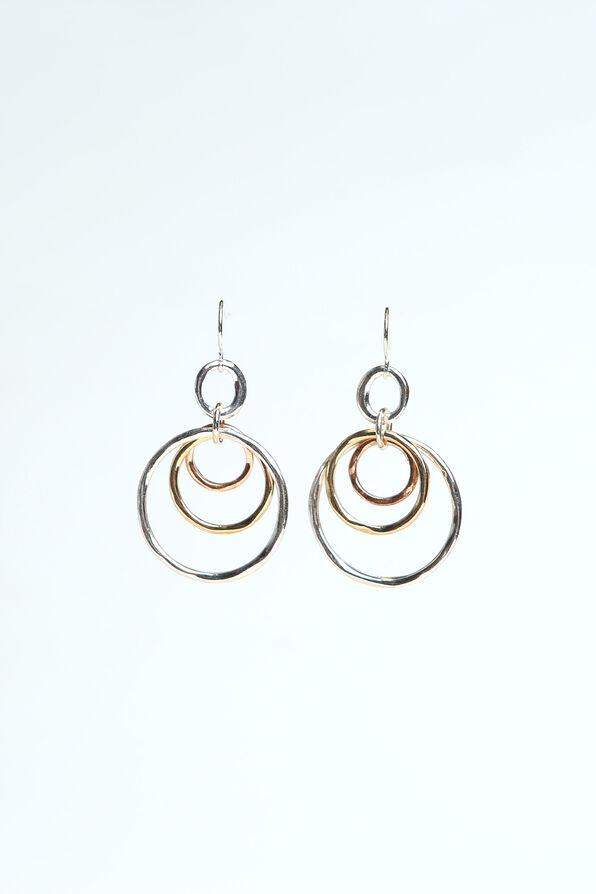 Triple Circle Earrings, Multi, original image number 0
