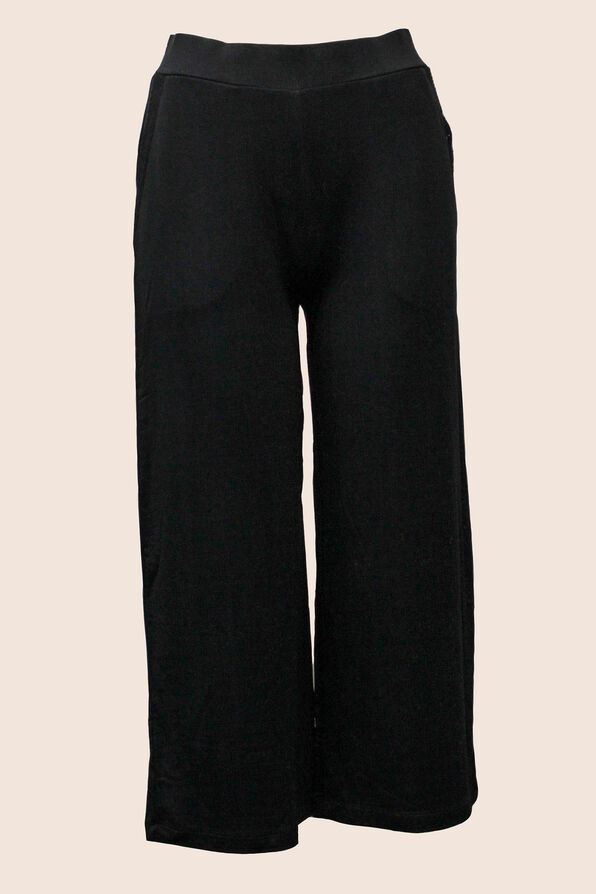 Cropped Lounge Pants, Black, original image number 0