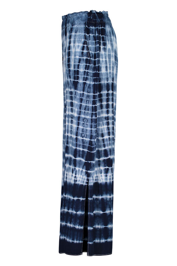 Tie Dye Elastic Waist Ankle Palazzo Pant, Ink, original image number 2