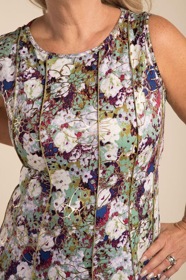 Victorian Print Dress, Sage, original image number 1