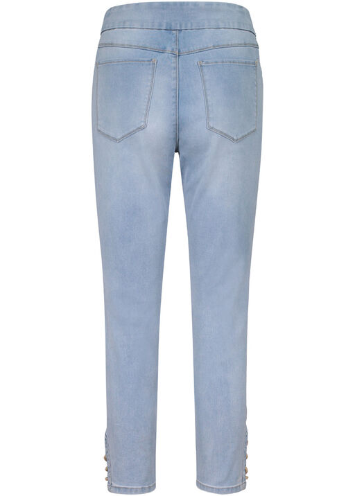 Audrey Denim Ankle Pant with Laced Detail, Blue, original