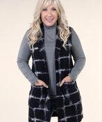 Longer Woolen Vest with Patch Pockets, , original image number 2