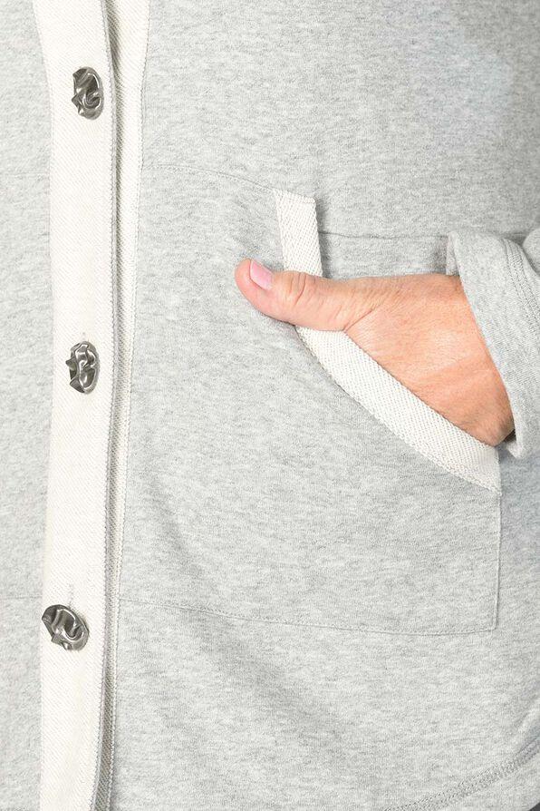 Beaming Button Hoodie, Grey, original image number 3