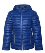 Packable Short Ultralight Hooded Puffer Coat , , original image number 3