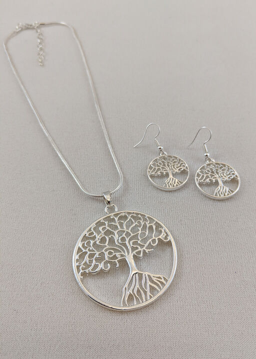 Tree of Life Necklace and Earrings Set, , original