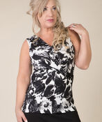 Taylor Sleeveless Blouse, Black, original image number 0