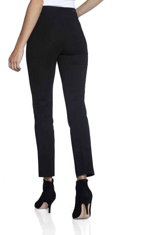 Up Compression Pants with Ankle Slit, Black, original image number 3