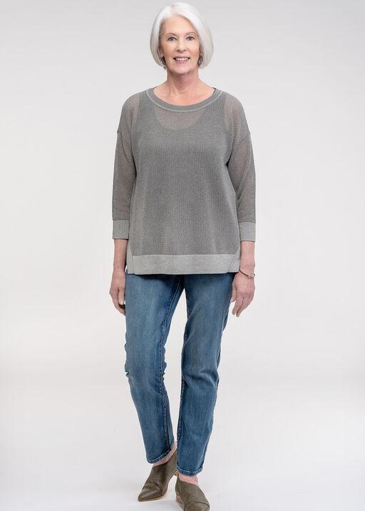 Open Weave Sweater with Lurex, Green, original