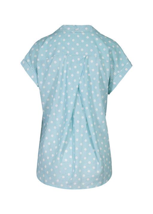 Polka Dot Camp Shirt, Blue, original
