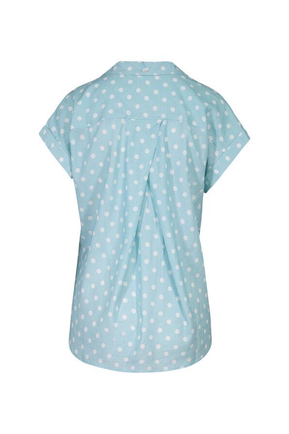 Polka Dot Camp Shirt, Blue, original image number 1