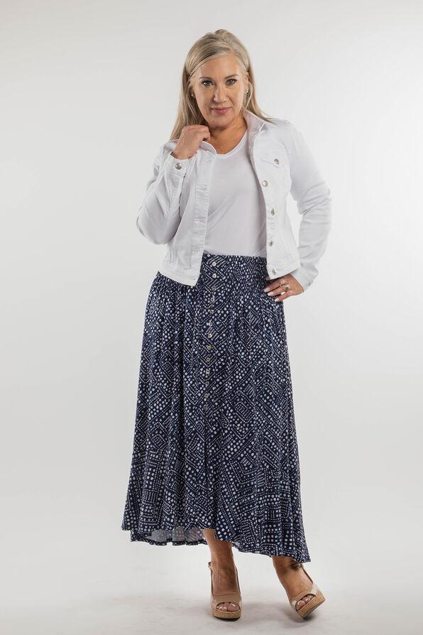 Daphne Skirt, Navy, original image number 3