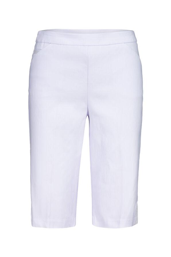 Tummy Control Bermuda Shorts with Metallic Stripes, , original image number 1