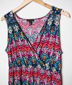 Patterned Maxi Dress, Fuschia, original image number 2