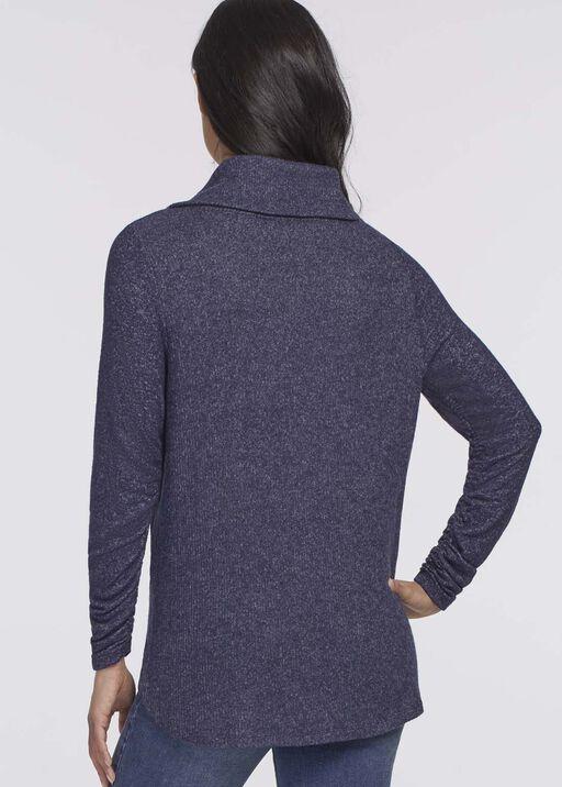 Véronique Cowl Sweater, Navy, original