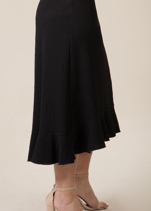 Ruffle Hi Lo Skirt, Black, original