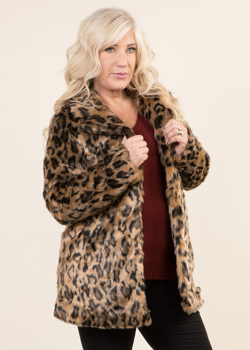 Leopard Print Jacket, Tan, original