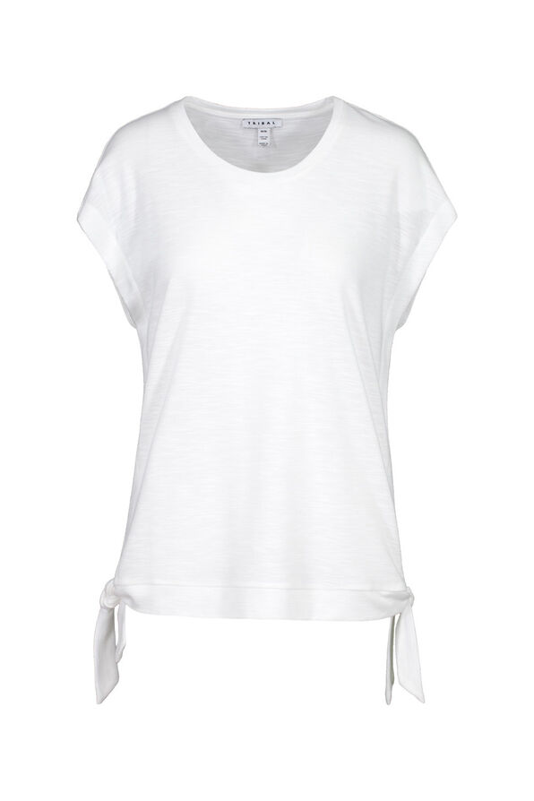 Cap Sleeve T-Shirt with Side Ties, , original image number 2
