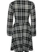 Plaid Sweater Dress , Black, original image number 1