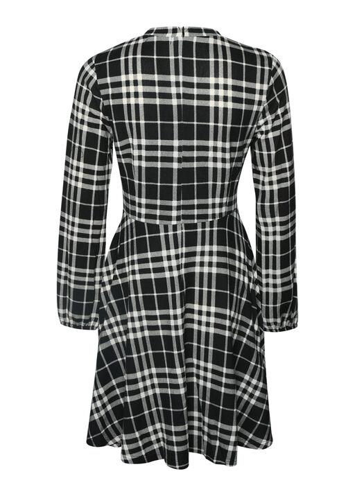 Plaid Sweater Dress , Black, original