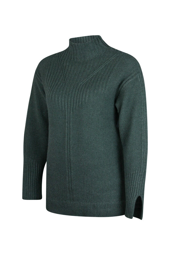Pointelle Knit Sweater, , original image number 4