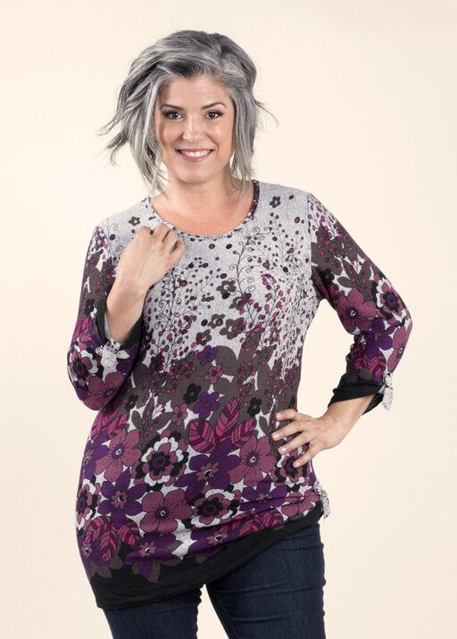 Print Knit Tunic, , original