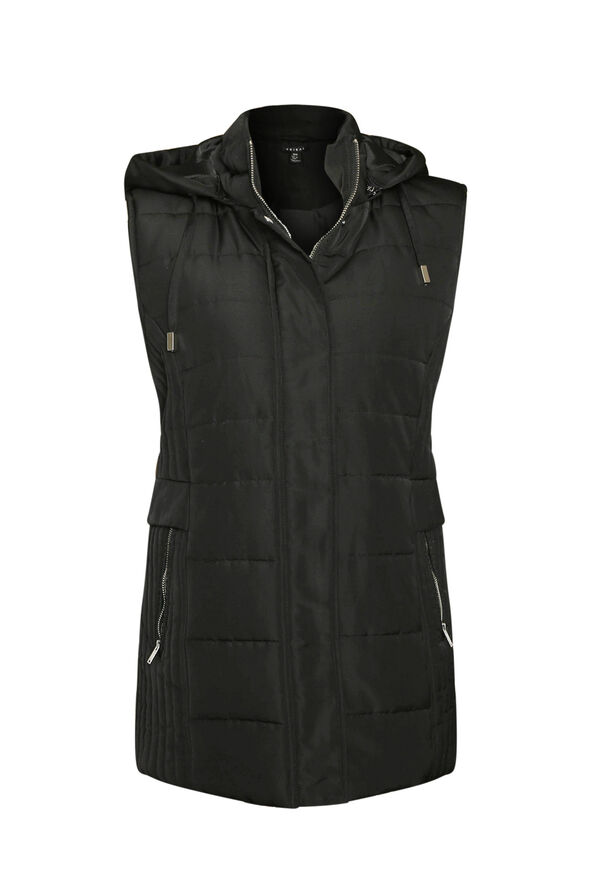 Water Repellent Puffer Vest, , original image number 1