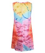 Tie Dye Sleeveless Shift Dress, Multi, original image number 1