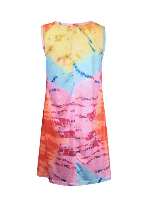 Tie Dye Sleeveless Shift Dress, Multi, original