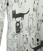 Rhinestone Cat Sweater, White, original image number 2