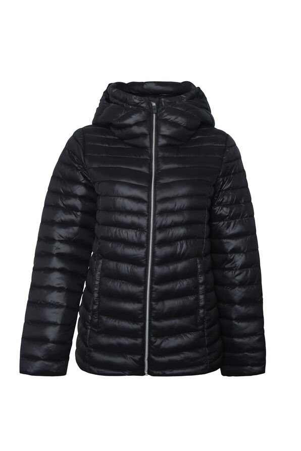 Slim Fit Ultralight Hooded Puffer Coat, , original image number 1