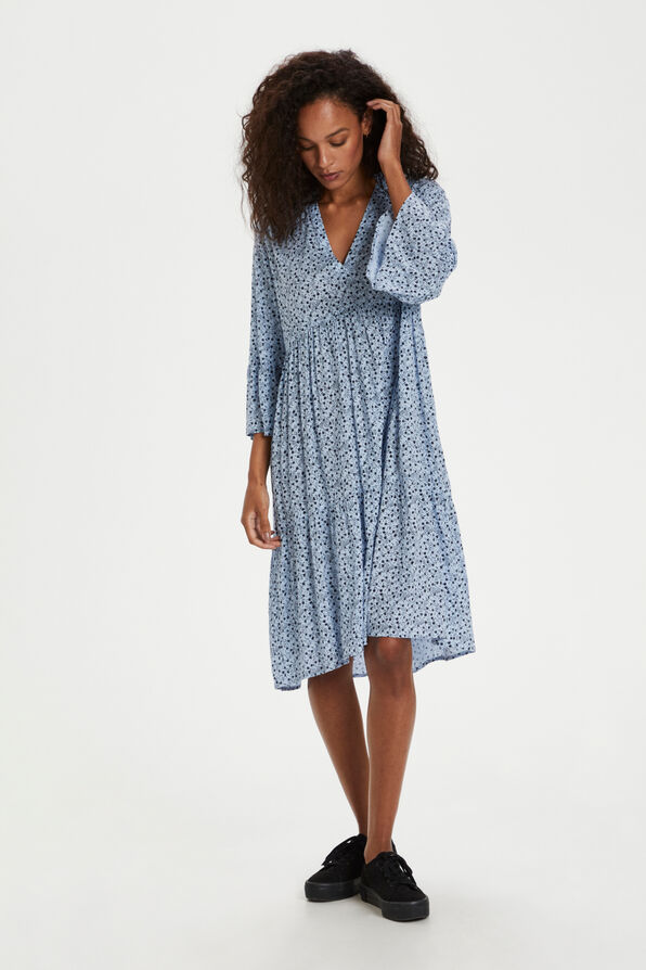 Kaffe Berna Amber Dress with 3/4 Sleeve, Blue, original image number 0