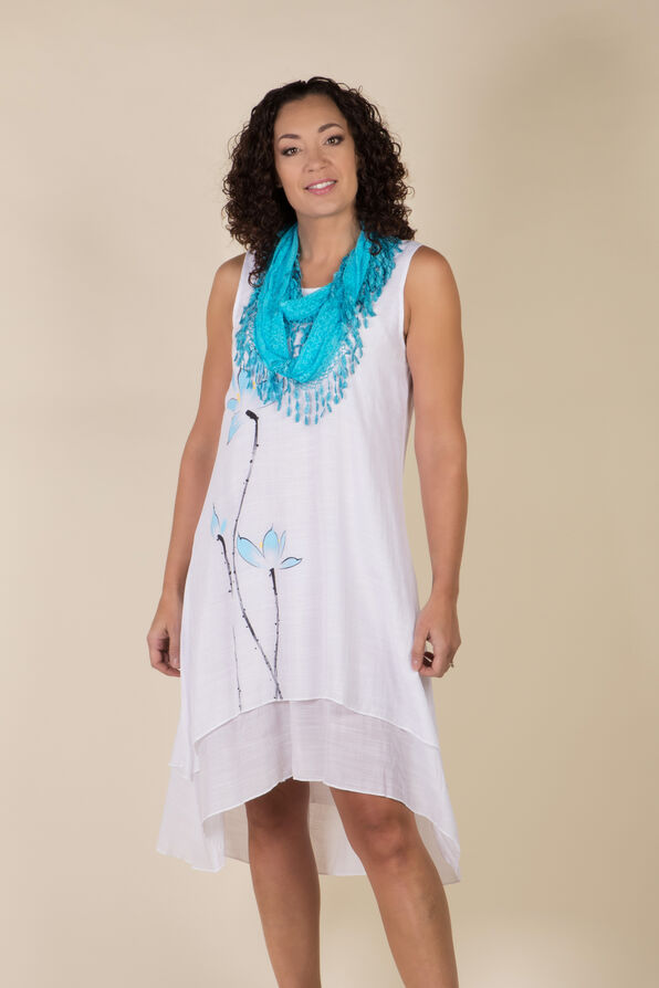 Brooke Hi Lo Dress, White, original image number 1