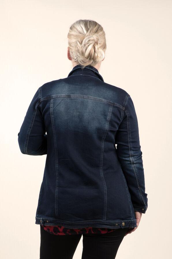 Jean Jacket Maxi, Denim, original image number 1