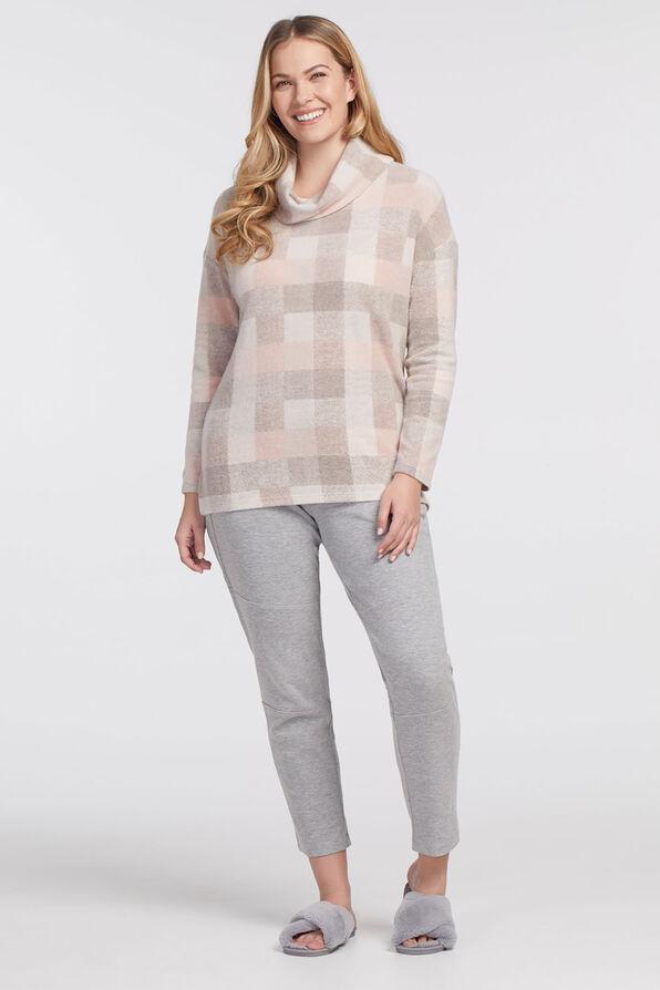 Pastel Plaid Lightweight Sweater, Pink, original image number 0