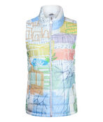 Village Print Puffer Vest, Multi, original image number 0