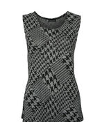 Houndstooth Twinset, Grey, original image number 2
