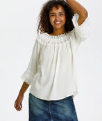 Cream Bea Lace Peasant Blouse, White, original image number 2