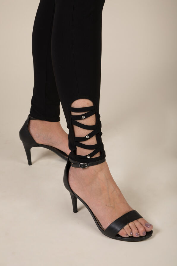CrissCross Bling Legging, Black, original image number 2