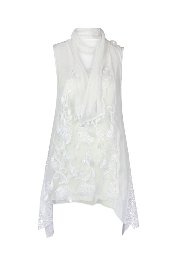 3PC Embroidered Front , White, original image number 0