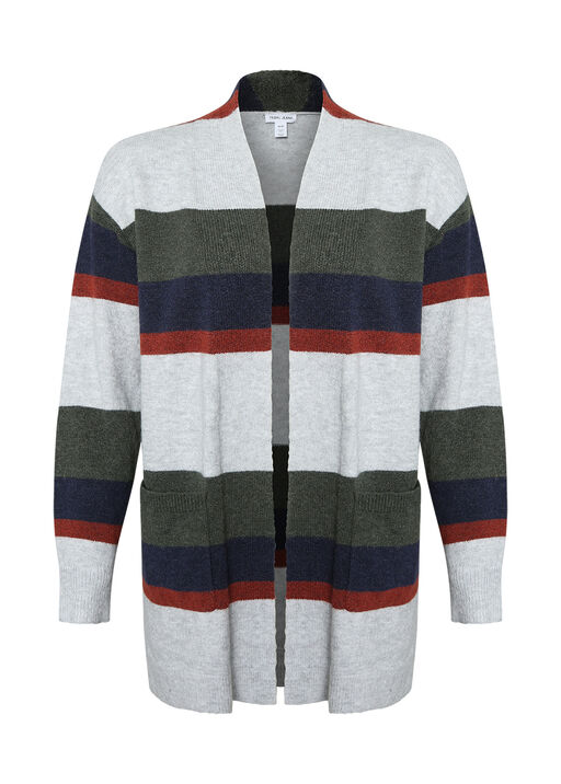 Marleigh Long Striped Cardigan, , original