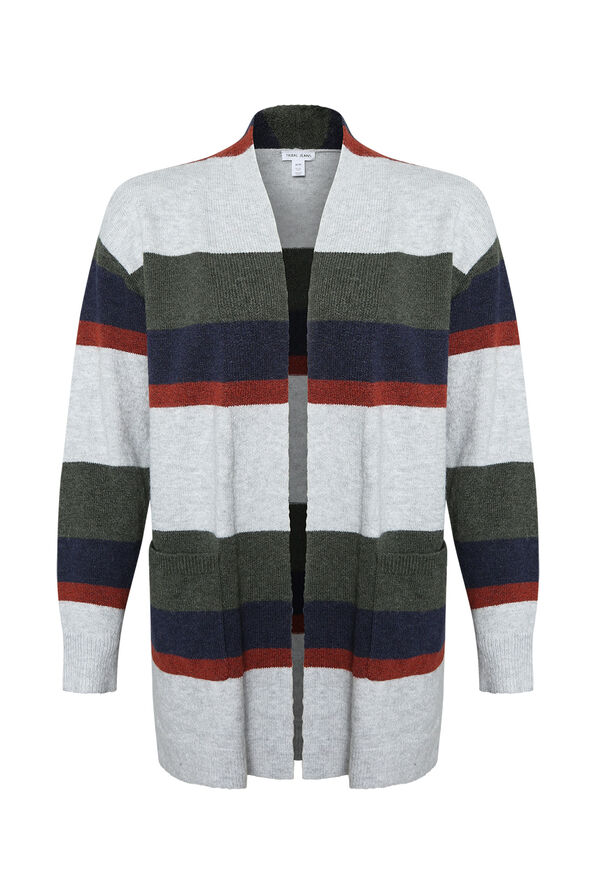 Marleigh Long Striped Cardigan, , original image number 0