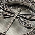 Dragonfly Keychain, Silver, swatch