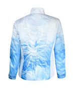 Ruched Front Windbreaker Jacket, Turquoise, original image number 1