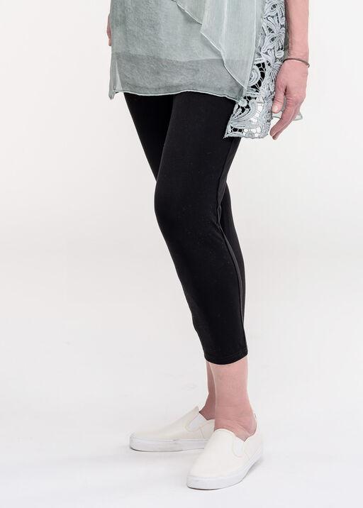 V-Waist Bamboo Capri Legging, Black, original