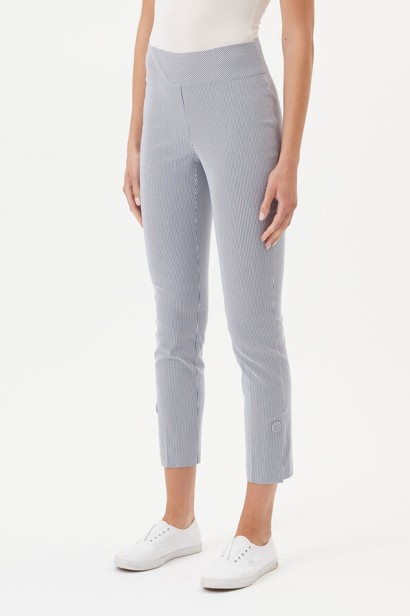 UP! Tummy Control Pin Stripe Ankle Pant, Blue, original image number 0